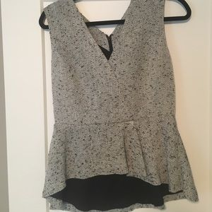 Halogen Sleeveless Tweed Peplum Top